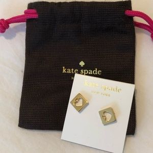 Kate Spade gold hole punch earrings